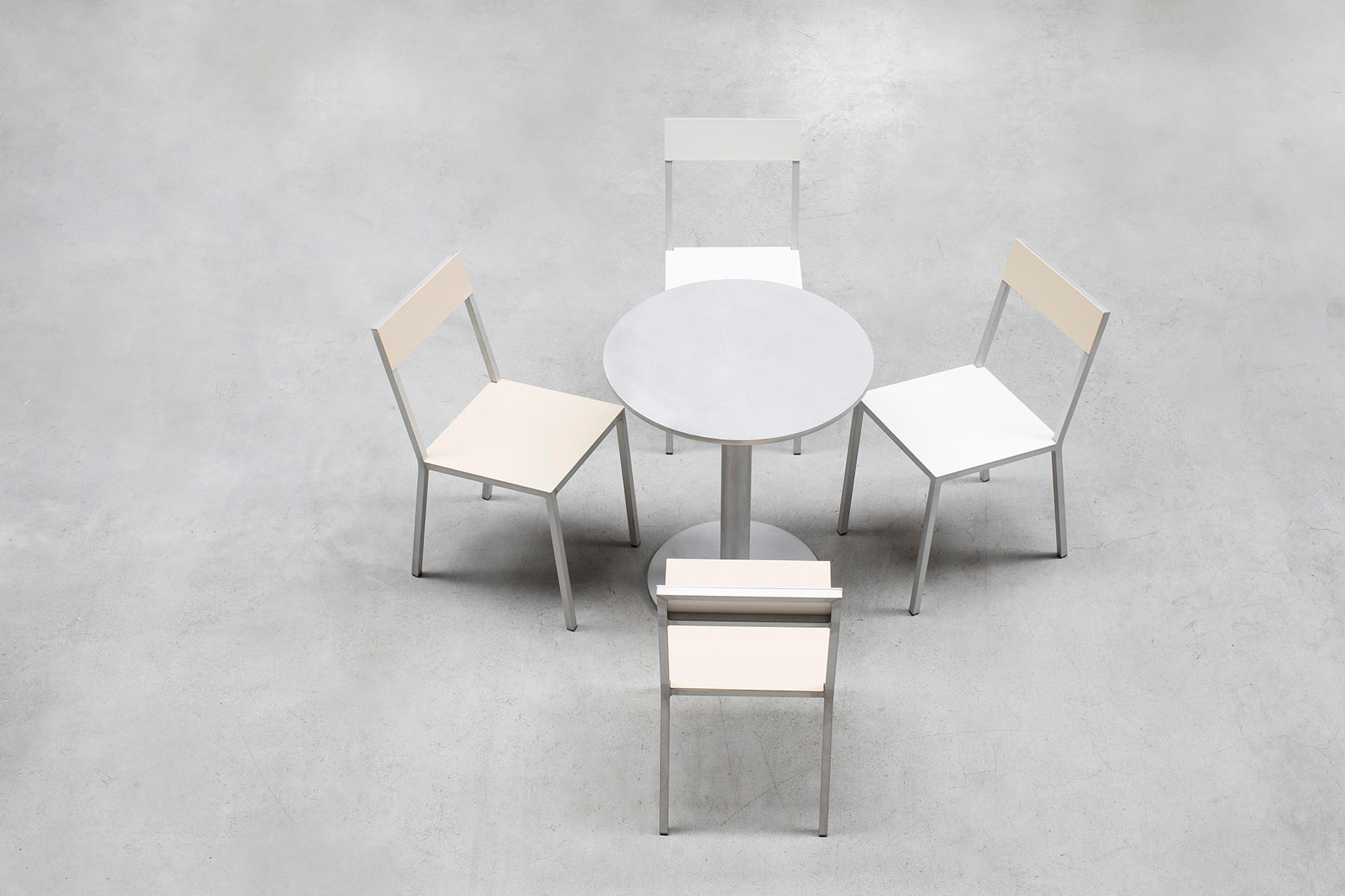 Alu chair yellow pink visitors chairs side chairs - Concept alu les herbiers ...