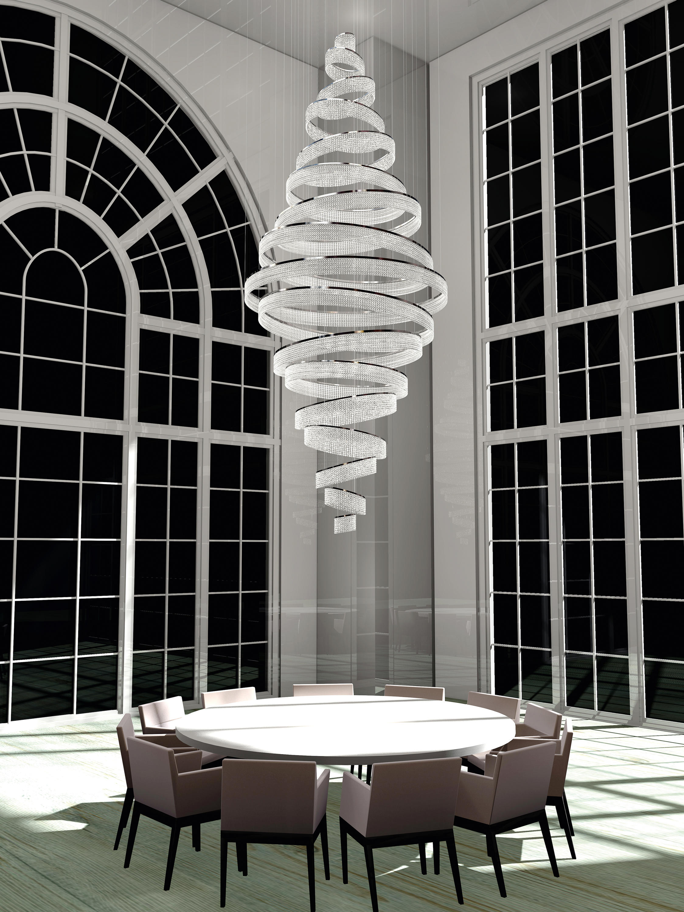 Swirl bespoke dining chandeliers from windfall architonic swirl bespoke dining by windfall arubaitofo Choice Image