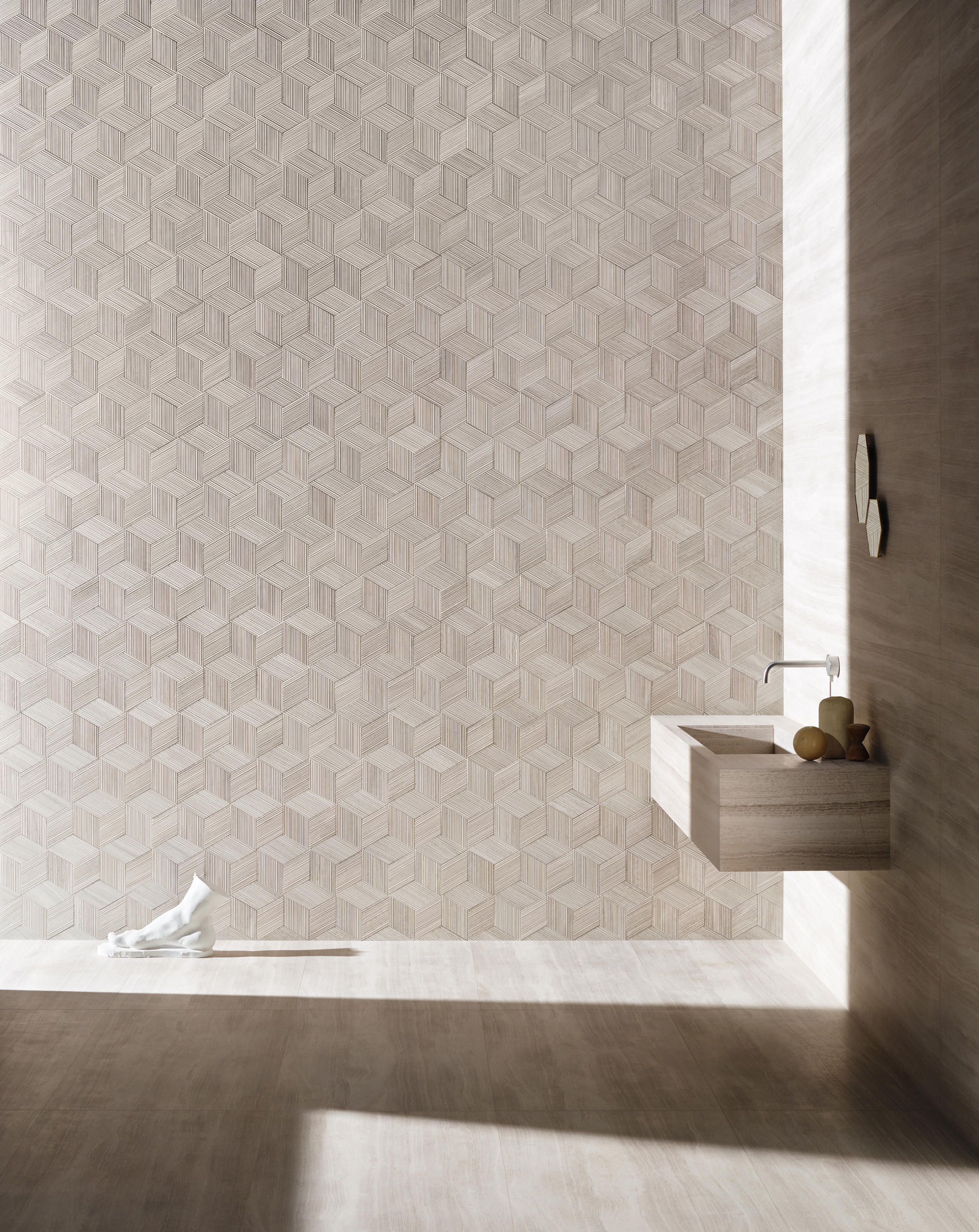 Romboo Silk Georgette Natural Stone Panels From