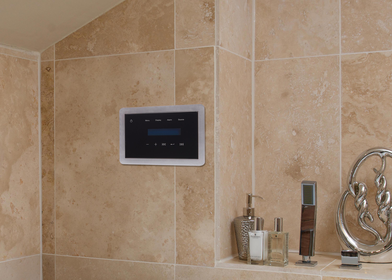 Bathroom music system best home design 2018 for Best bathroom speakers