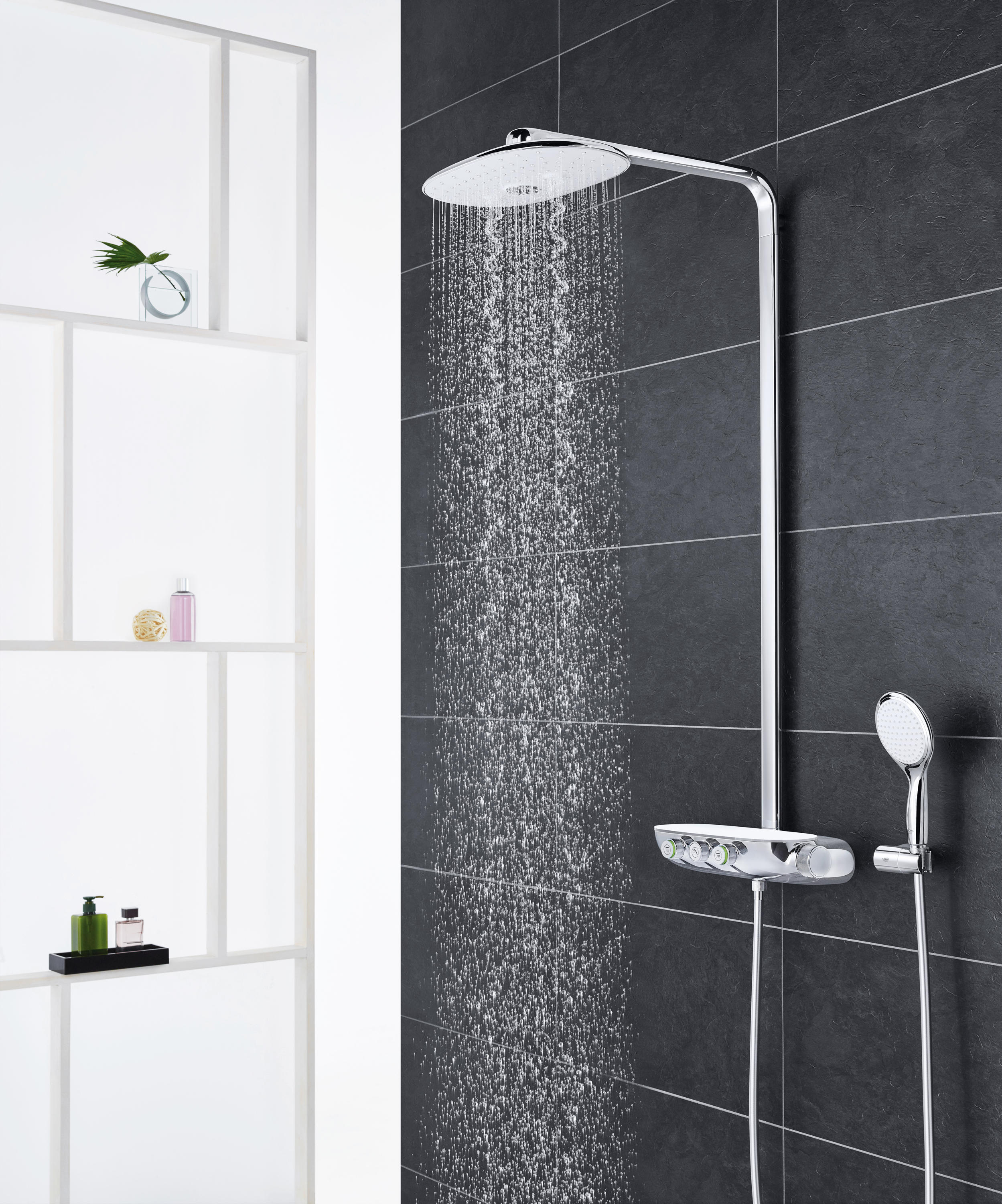 GROHTHERM SMARTCONTROL COMBI THERMOSTATIC SHOWER MIXER WITH 3 VALVES ...