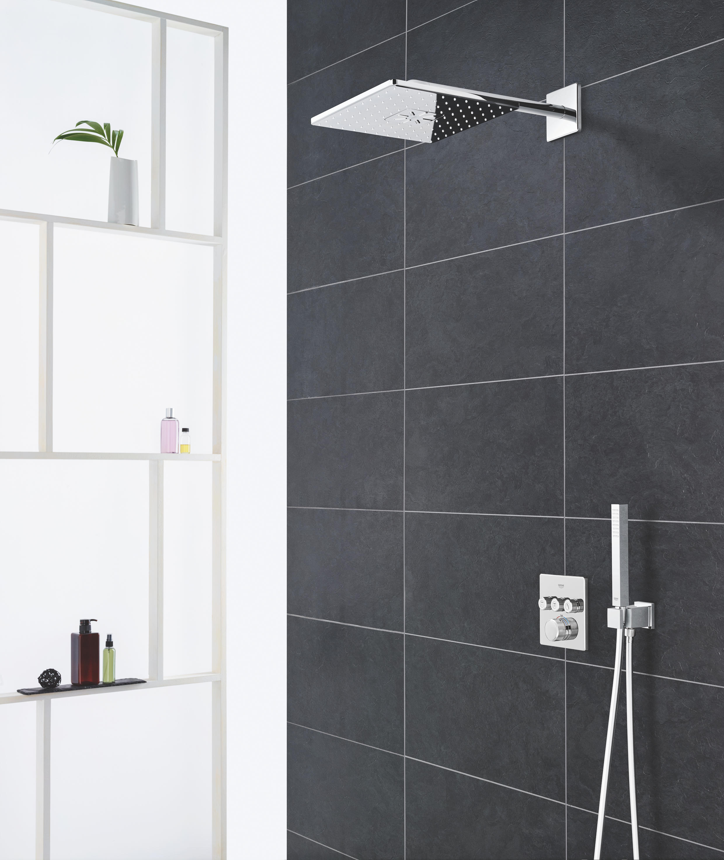 rainshower smartcontrol rough in box for head shower set 26 254 26 450 concealed elements from. Black Bedroom Furniture Sets. Home Design Ideas
