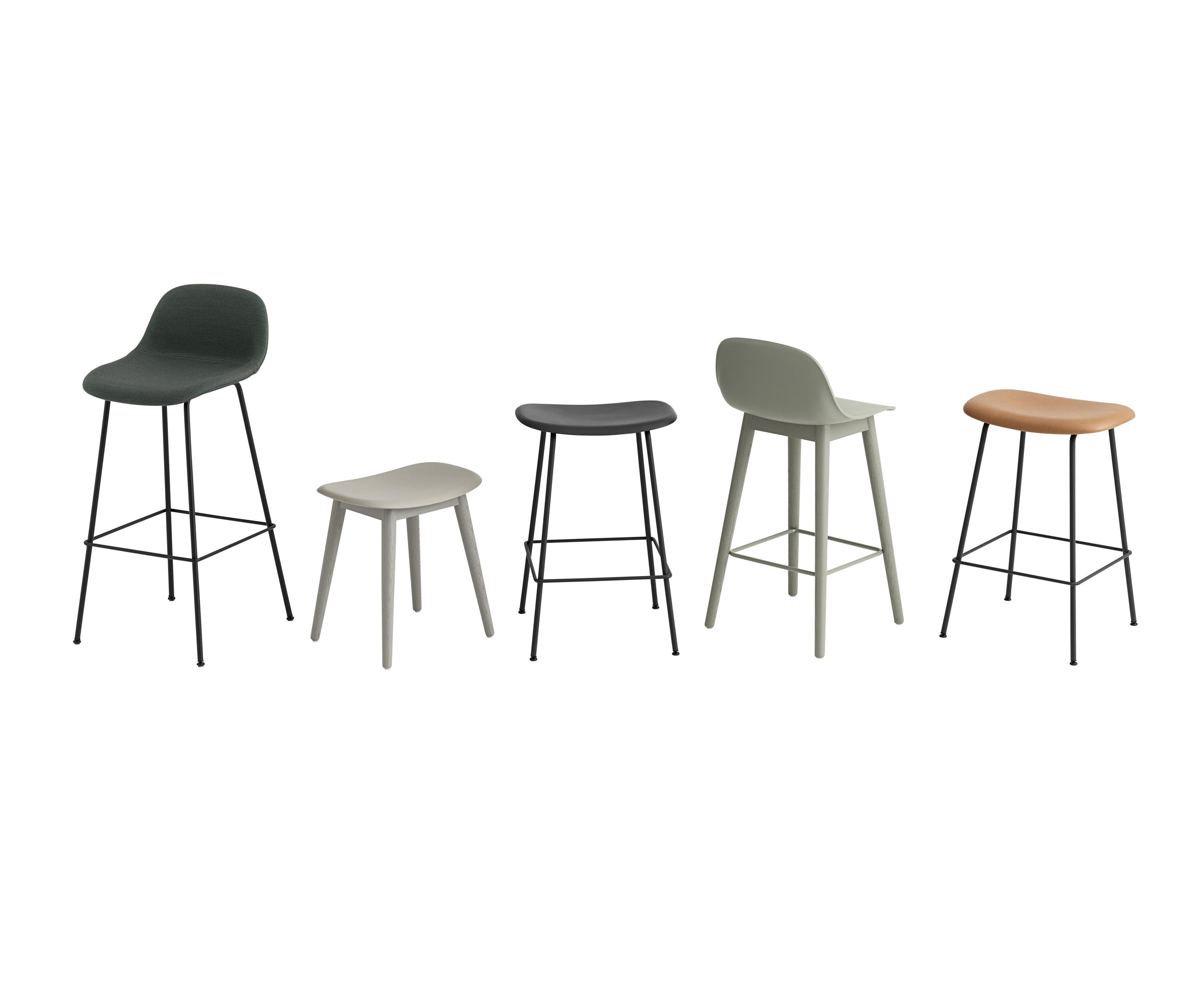 Fiber Bar Stool Tube Base Grey Bar Stools From Muuto