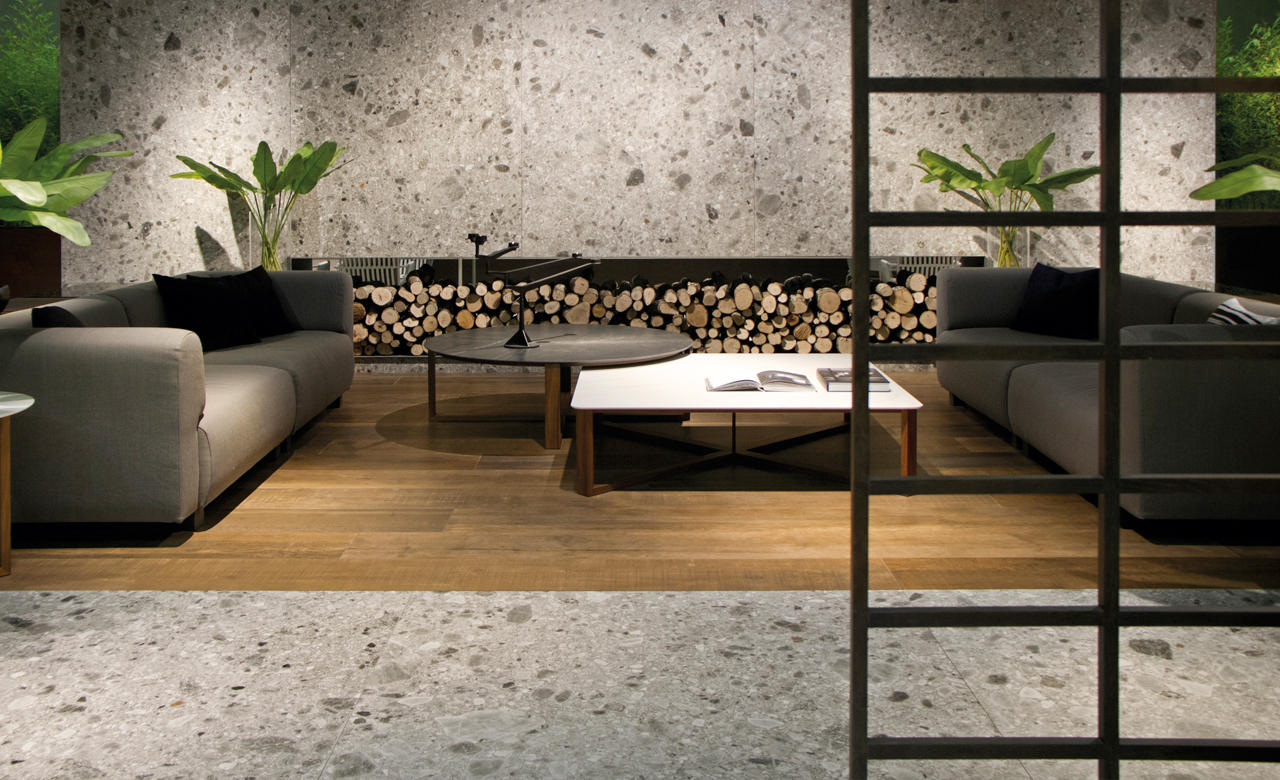 Iseo Gris Bush Hammered Sk Ceramic Tiles From Inalco