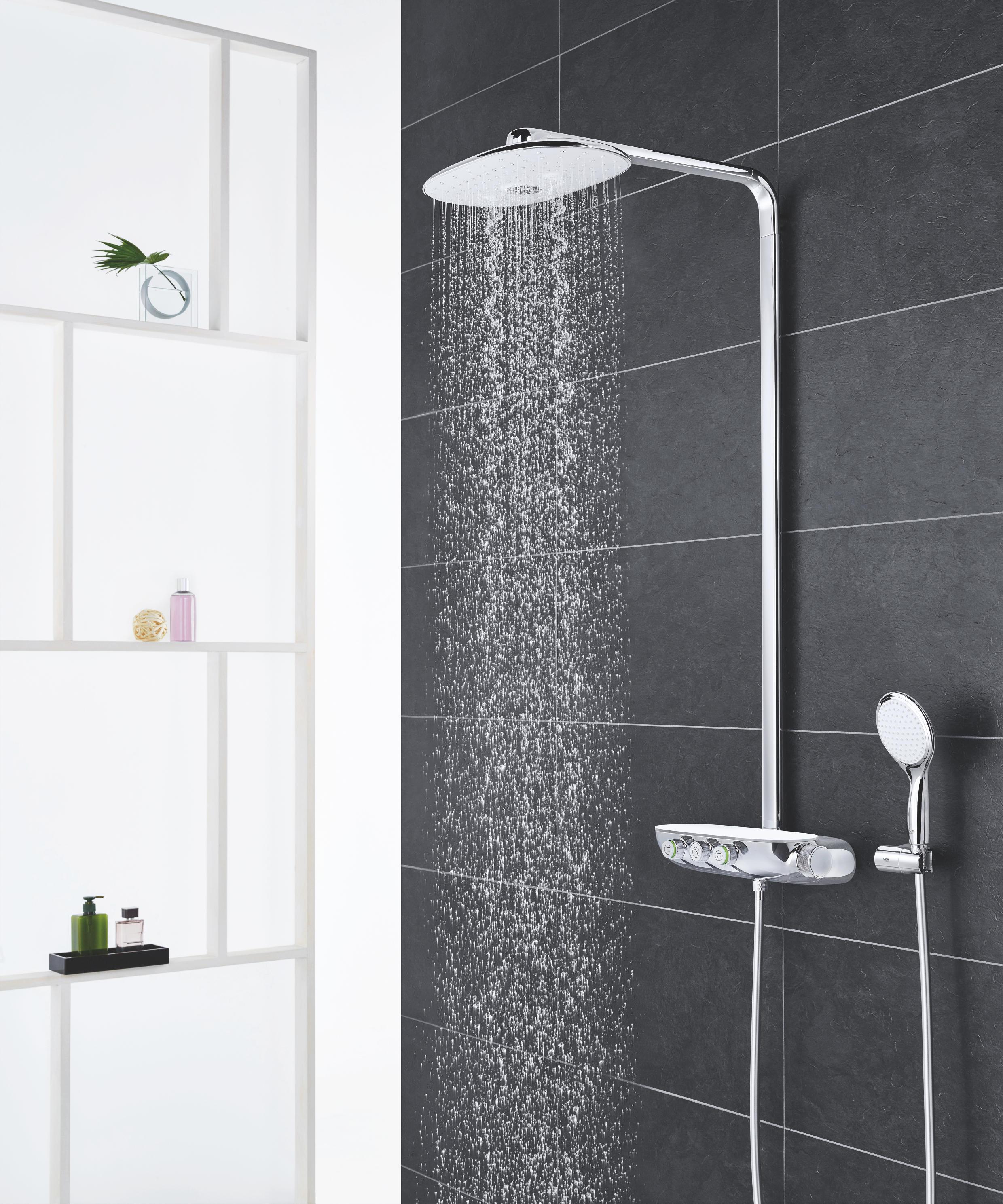 rainshower system smartcontrol 360 duo duschsystem mit thermostatbatterie auf unterputz. Black Bedroom Furniture Sets. Home Design Ideas