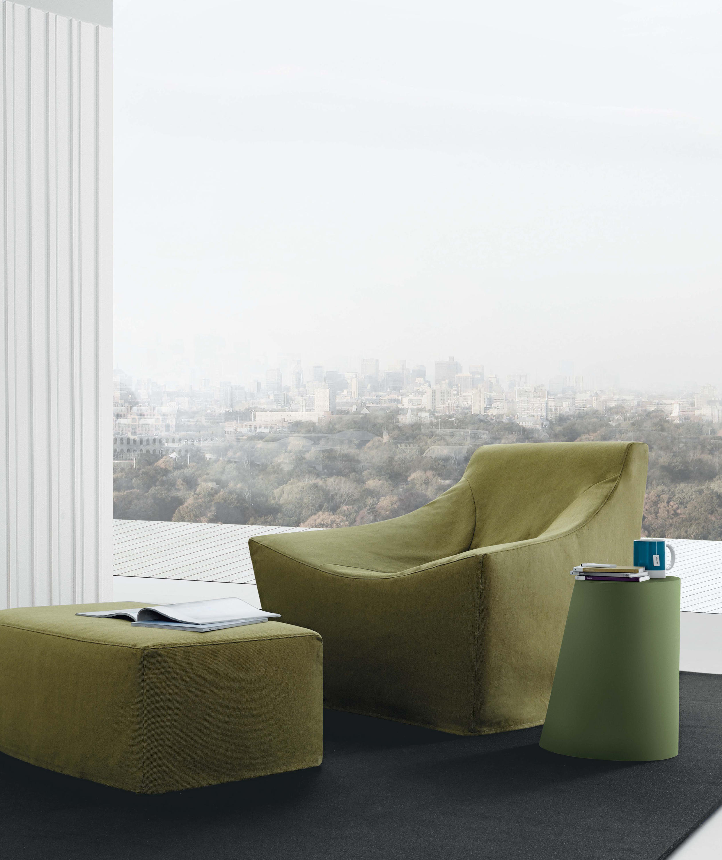 julie alta lounge chairs with footstools from jesse. Black Bedroom Furniture Sets. Home Design Ideas