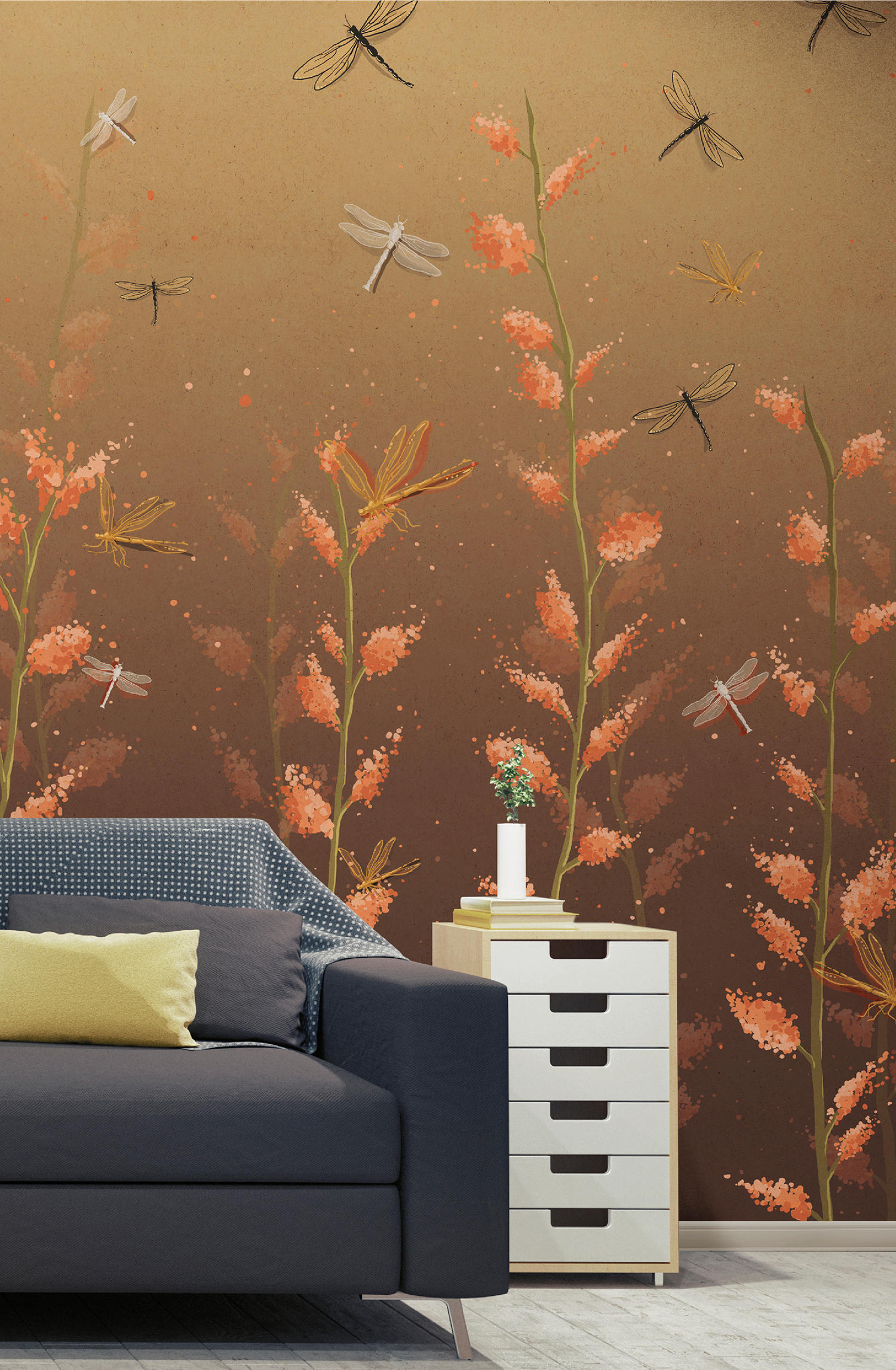 Il battito d ali wall coverings wallpapers from - Battito d ali divano ...