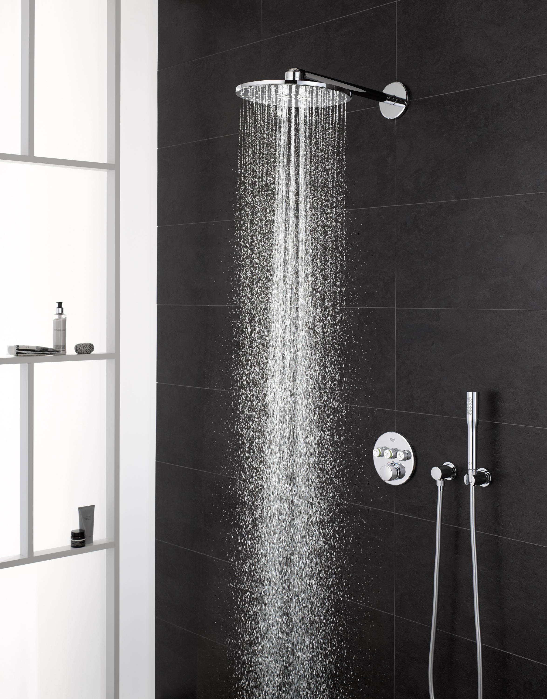 rainshower 310 smartactive cube head shower set 430 mm 2 sprays shower controls from grohe. Black Bedroom Furniture Sets. Home Design Ideas