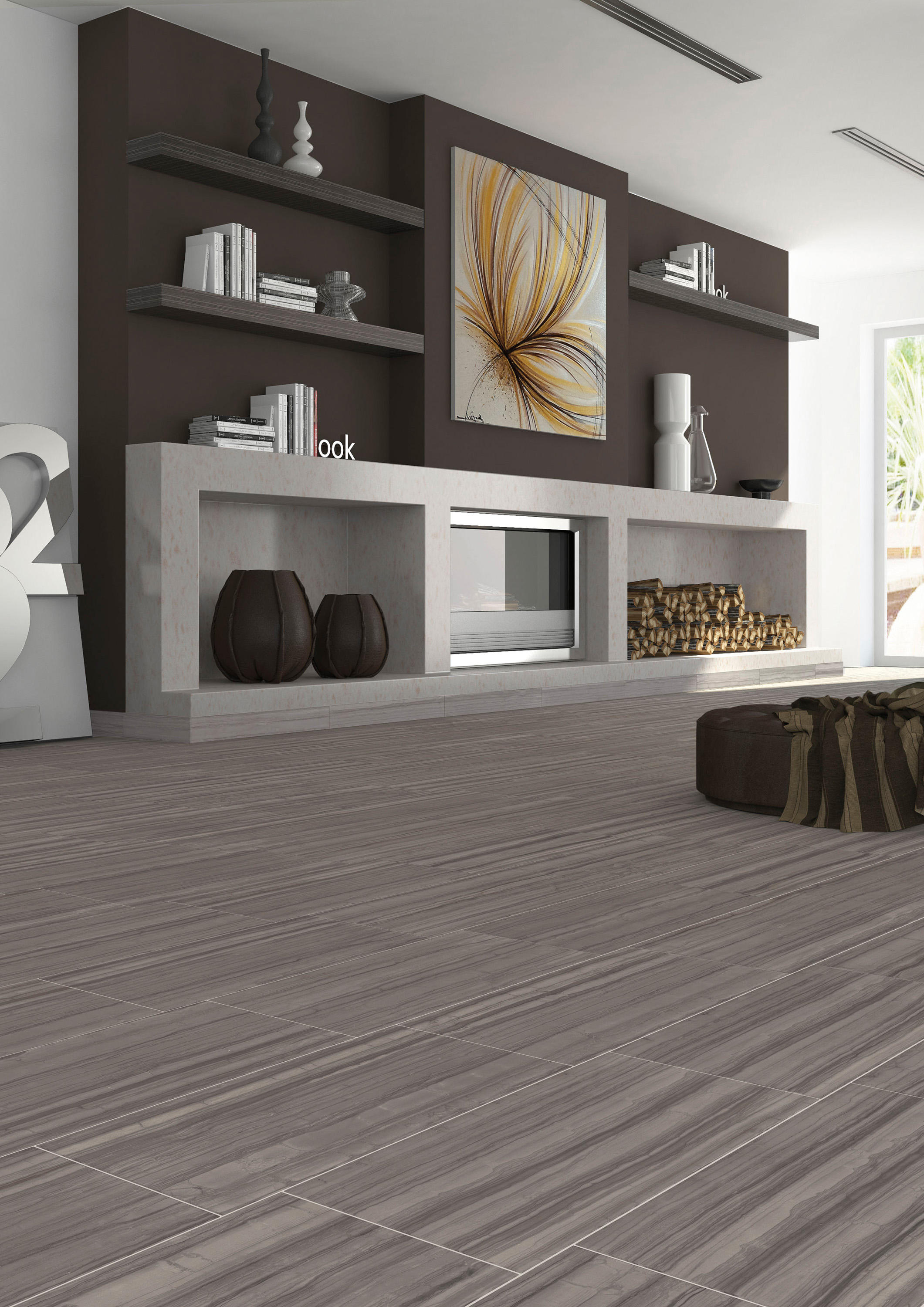 Georgette Briar Taupe Weave Ceramic Mosaics From