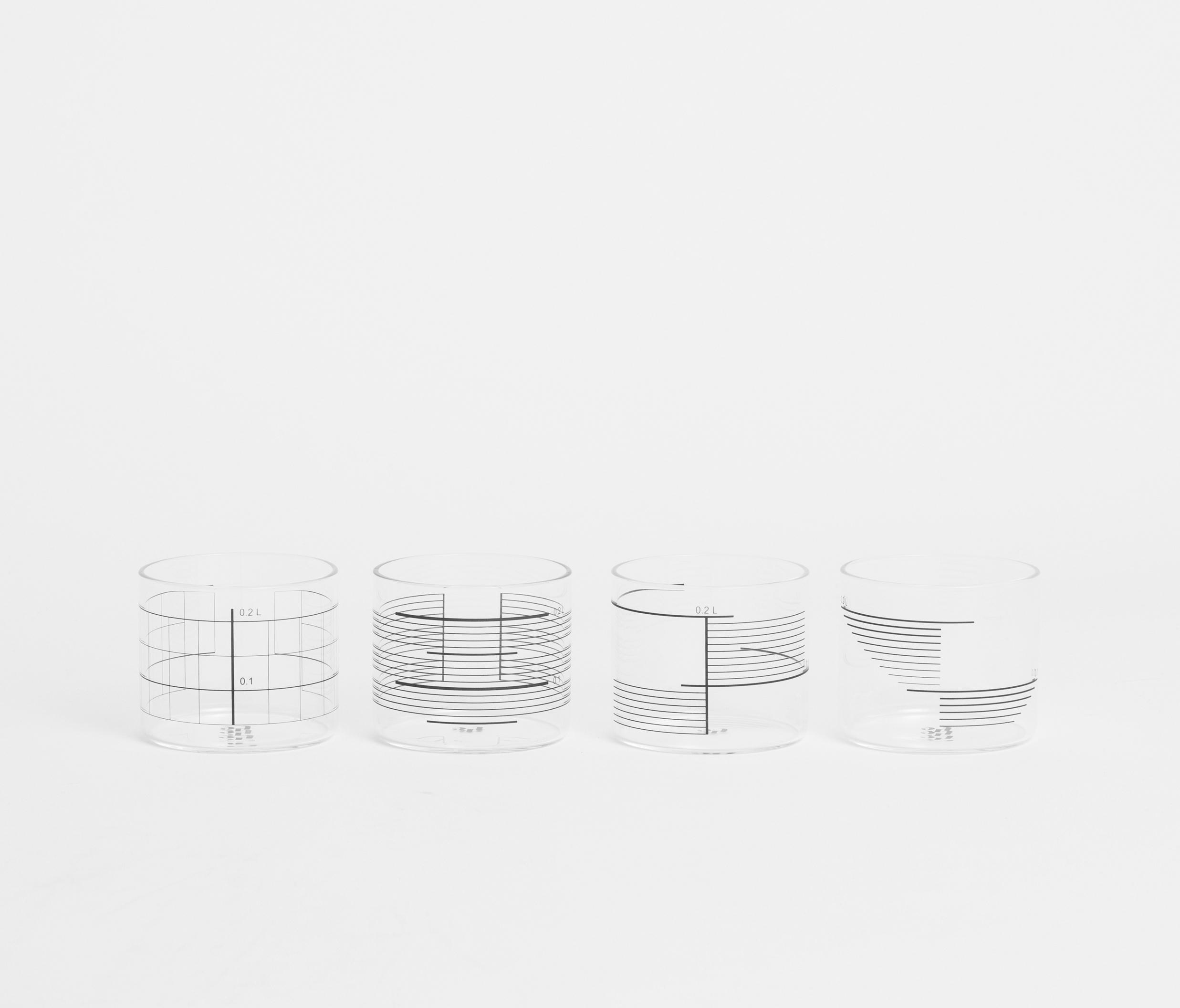 0,2L GLASS SQUARE STRIPES - Glasses from tre product