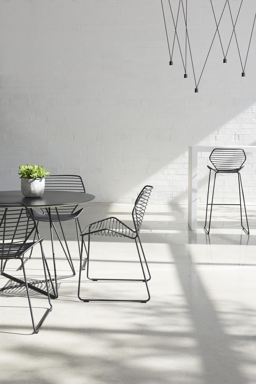 En Wire Furniture | Ginkgo Wire Barstool Barhocker Von Davis Furniture Architonic