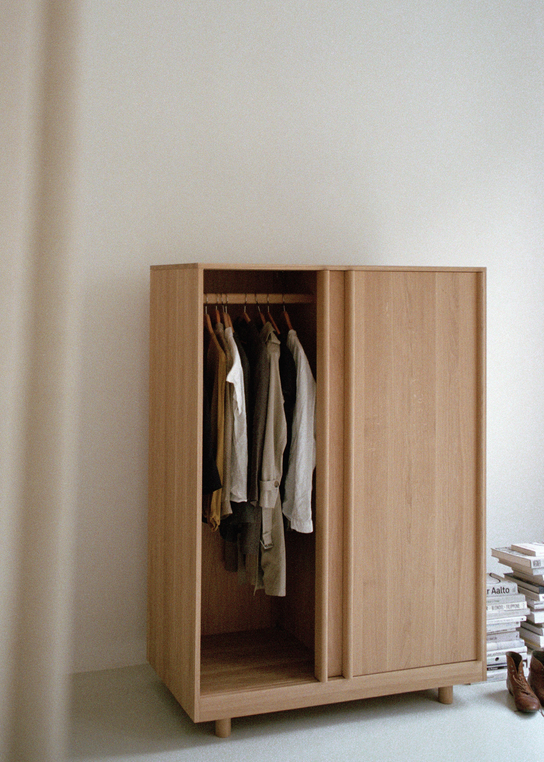 Wardrobe With Sliding Doors Natural Oak Cabinets From Bautier