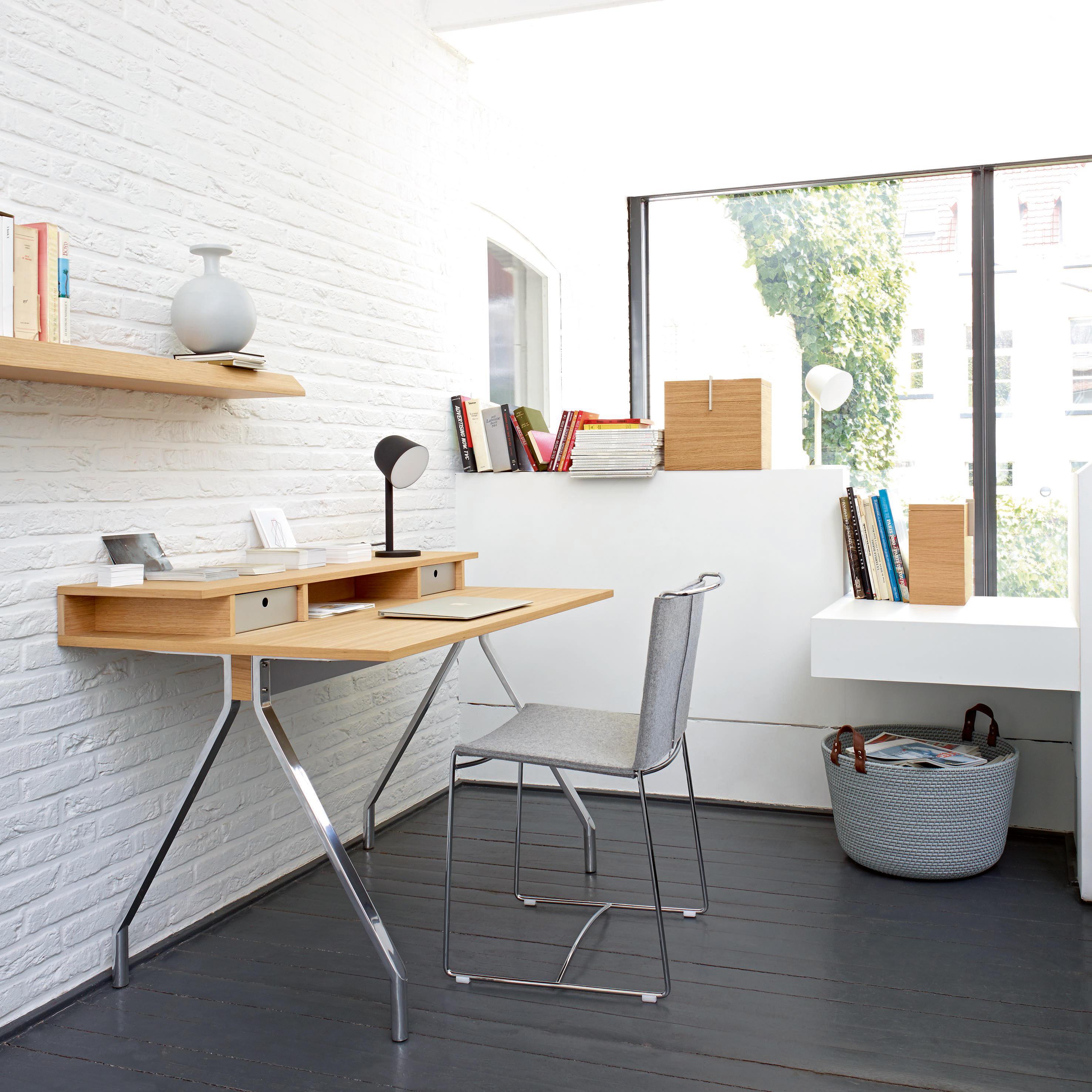 mateodesk bureau plateau chene ton naturel pietement. Black Bedroom Furniture Sets. Home Design Ideas