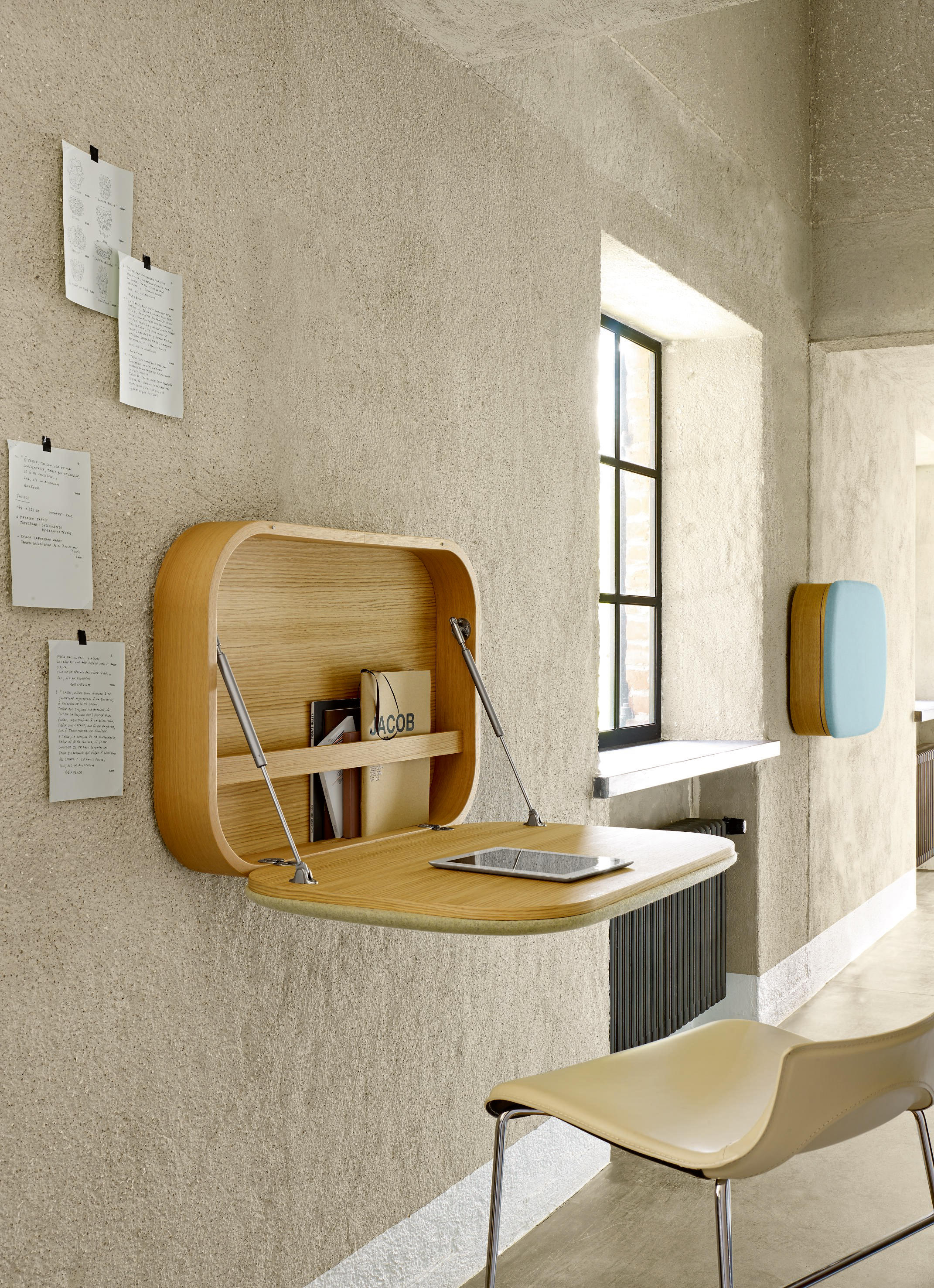 Design Salontafel Ligne Roset.Nubo Wall Mounted Desk Steelcut Trio Givre From Stock Architonic