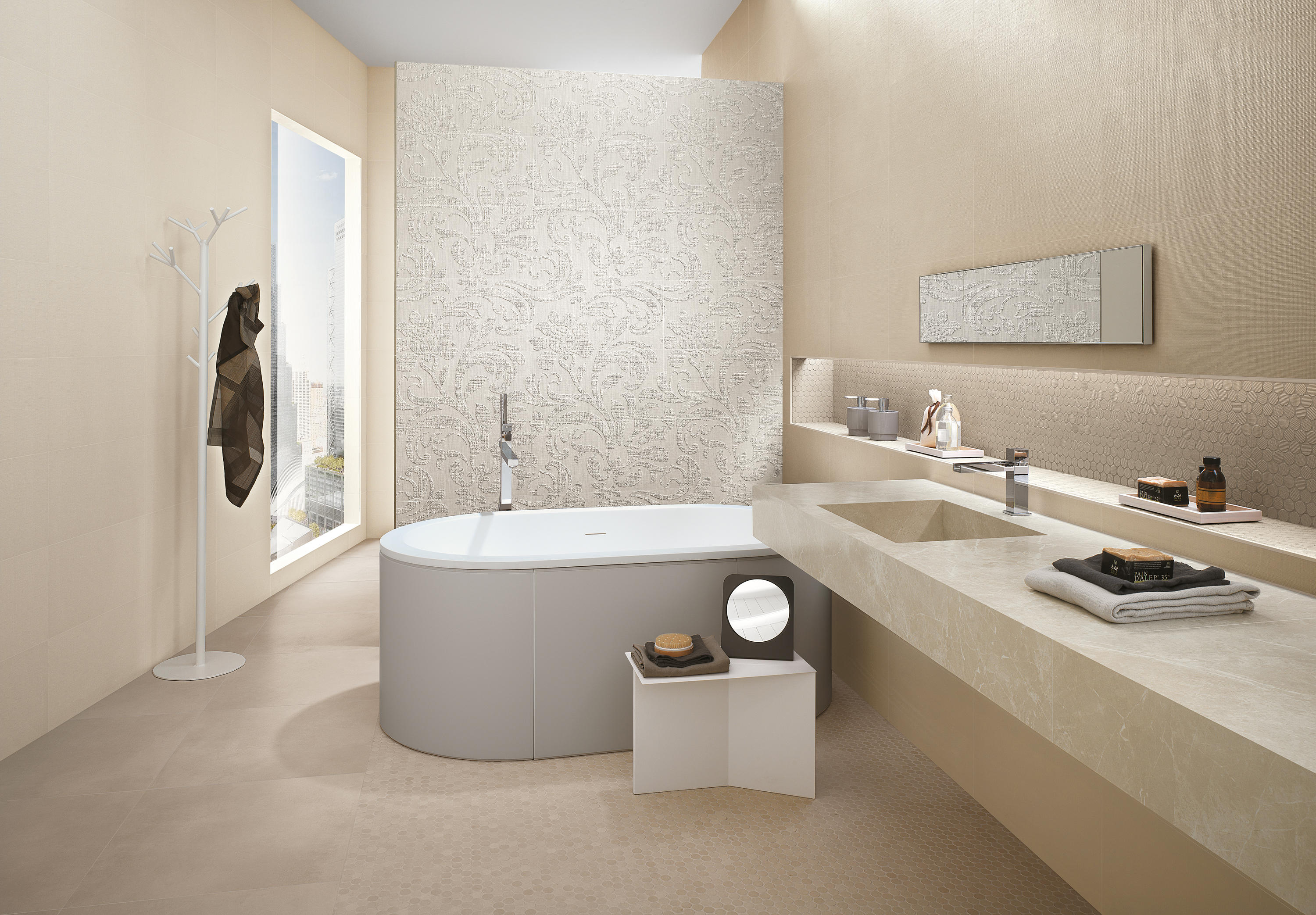 MILANO&WALL BEIGE Ceramic Tiles From Fap Ceramiche