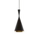 Illuminazione generale-Lampade a sospensione in ottone-Lampade a sospensione-Beat Tall Black-Tom Dixon