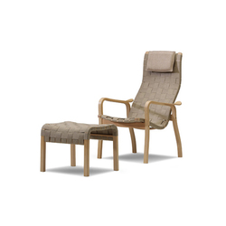 Primo easy chair with footstool | Fauteuils d'attente | Swedese