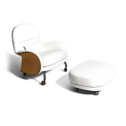 Louisiana | Lounge chairs with footstools | De Padova