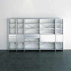 Aluminium shelves | Office shelving systems | Lehni