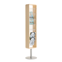 Kvadrat magazine holder | Brochure / Magazine display stands | Materia