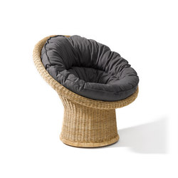 E 10 rattan lounge chair | Garden armchairs | Lampert