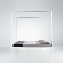 Aluminium Bed with Canopy | Double beds | MDF Italia