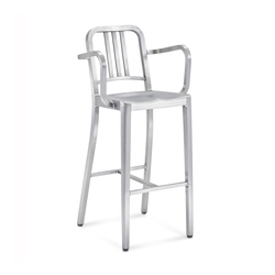 Navy® Barstool with arms | Taburetes de bar | emeco