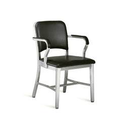Navy® Upholstered armchair | Restaurant chairs | emeco