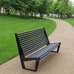 BURRI 02 Bench with high backrest | Exterior benches | BURRI