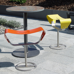 Evolution free-standing with base plate | Tabourets de jardin | BURRI