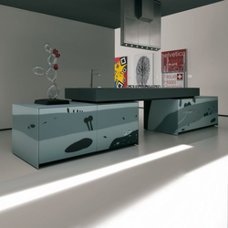 Artematica Vitrum Arte I Natura bianco e nero | Fitted kitchens | Valcucine