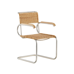 D40 Bauhaus-cantilever chair with armrests | Chaises | TECTA