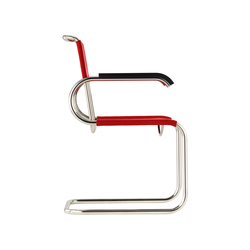 D40 Bauhaus-cantilever chair with armrests | Sillas de visita | TECTA