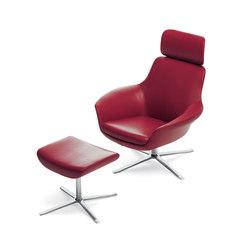 Oscar 221 armchair I footstool | Sillones lounge | Walter Knoll