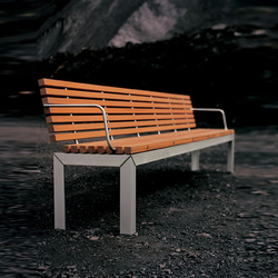 Extempore bench with back | Bancos de jardín | extremis