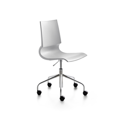 Ricciolina swivel base with wheels and gas lift polypropylene | Chaises de travail | Maxdesign