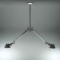 Tolomeo due bracci alluminio Luminaires Suspension | General lighting | Artemide
