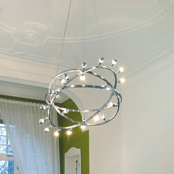 Dione 800 Stainless steel handpolished | Suspensions | Licht im Raum
