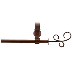 Mondo Louanda marrón rojizo | Herrajes para cortinas | Blome