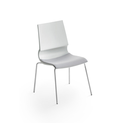 Ricciolina 4 legs with seat cushion | Multipurpose chairs | Maxdesign