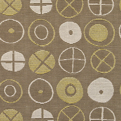 Circles 001 Khaki | Tissus | Maharam
