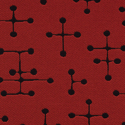 Small Dot Pattern 007 Red | Upholstery fabrics | Maharam