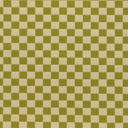 Checker 001 Emerald Light/Ivory | Upholstery fabrics | Maharam