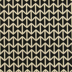 Double Triangles 001 Black/White | Stoffbezüge | Maharam