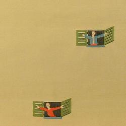 I Morosi alla Finestra 001 Miele | Vorhangstoffe | Maharam