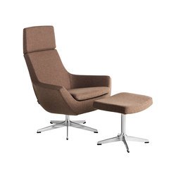 Happy Swing chair high back with foot stool | Fauteuils d'attente | Swedese