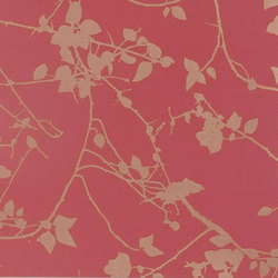 Briar geranium/gold wallpaper | Wall coverings | Clarissa Hulse