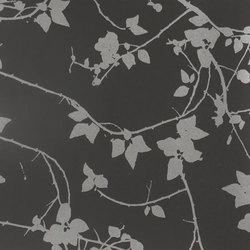 Briar black/pewter wallpaper | Wall coverings | Clarissa Hulse