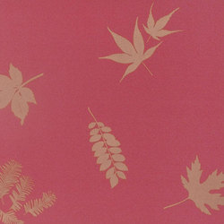 Leaves geranium/gold wallpaper | Papeles pintados | Clarissa Hulse