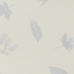 Leaves spring green/silver wallpaper | Carta da parati | Clarissa Hulse